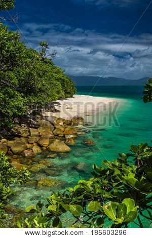 Nudey Beach on Fitzroy Island, Cairns area, Queensland, Australia, part of Great Barrier Reef.