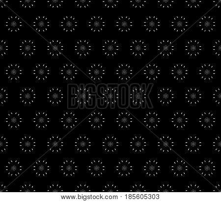 Vector ornamental seamless pattern, dark minimalist geometric background, abstract monochrome minimal floral texture. Stylish modern design element for prints, decor, digital, fabric, textile, cloth