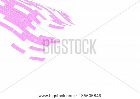 Abstract vector background. Part of the pink grid fading on the white background. Geometrical Illustration