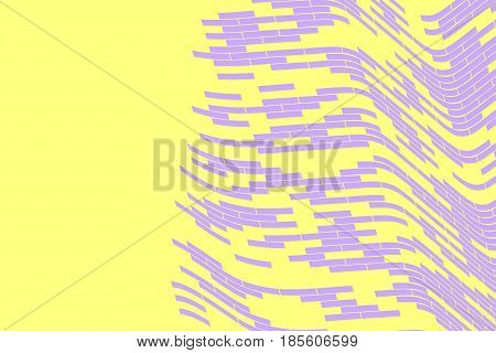 Abstract vector background. Violet grid fading on the yellow background. Geometrical Illustration
