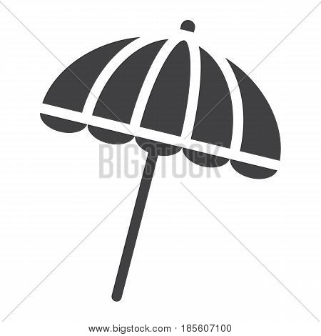 Sun umbrella solid icon, travel and tourism, parasol, a filled pattern on a white background, eps 10.