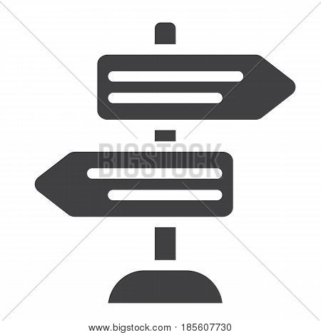 Signpost solid icon, navigation and direction, arrows vector graphics, a filled pattern on a white background, eps 10.