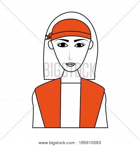 young pretty woman with long hair wearing visor icon image vector illustration design