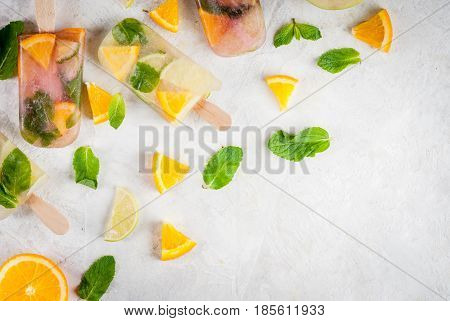 Popsicles Of Sangria, Lemonade Or Mojito