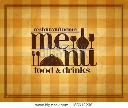Food and drinks retro restaurant menu design style