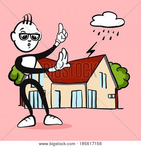 Stickman Emotion Household Assurance