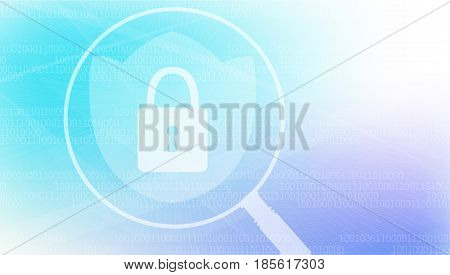 Computer security and Protection vector concept. Protect mechanism, system privacy. -stock vector