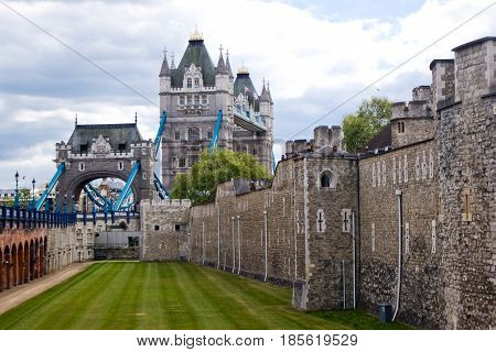 Tower Bridge and Tower of London England