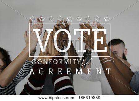 Vote election poll registration decision