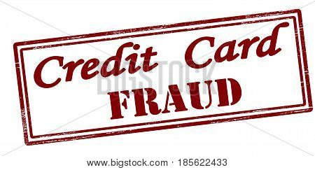 Stamp with text credit card fraud inside vector illustration