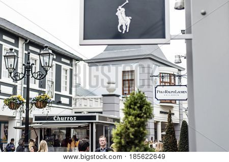 Roermond, Netherlands 07.05.2017 - Logo of Polo Ralph Lauren Store in the Mc Arthur Glen Designer Outlet shopping area