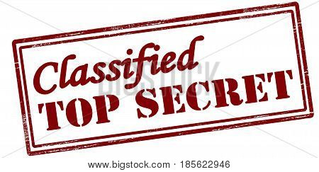 Stamp with text classified top secret inside vector illustration