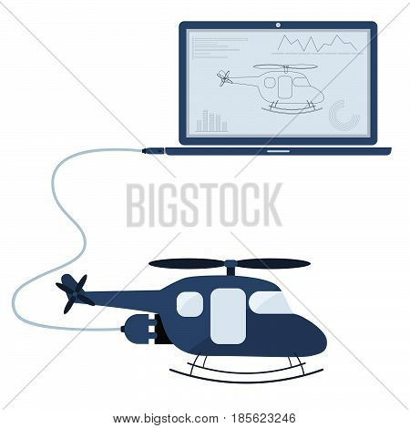 Helicopter Automation Using Laptop
