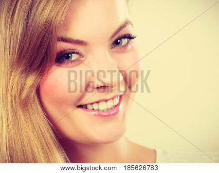 Portrait Of Happy Smiling Young Blonde Woman