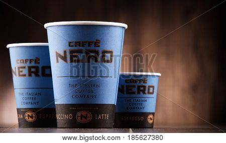 Composition With Cups Of Caffe Nero Coffee