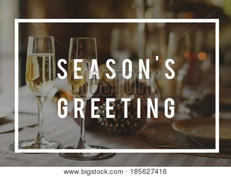 Season's Greeting Precious Moment Celebration