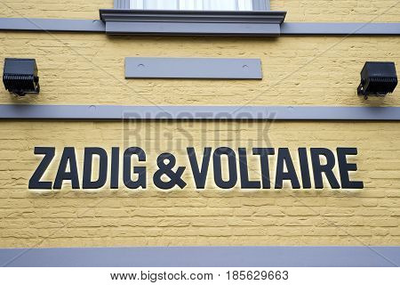 Roermond, Netherlands 07.05.2017 - Logo of Zadig and Voltaire Store Mc Arthur Glen Designer Outlet shopping area