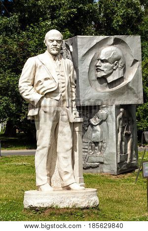 Moscow, Russia - July, 2016: Lenin monument in Park of Art Museon in Moscow, Russia