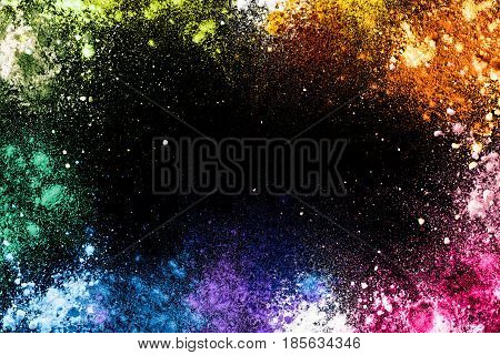 Bright Colorful Dust Background