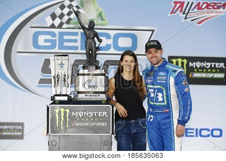 May 07, 2017 - Talladega, Alabama, USA: Ricky Stenhouse Jr. (17) wins the GEICO 500 at Talladega Superspeedway in Talladega, Alabama.