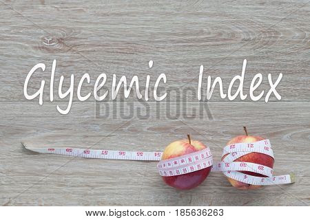 Concept Glycemic Index and against healthy. good healthy