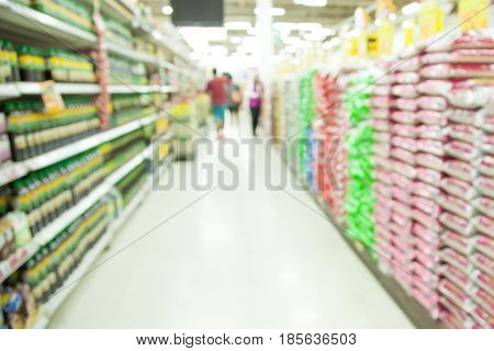 Shopping mall blurred with bokeh background. shopping concept