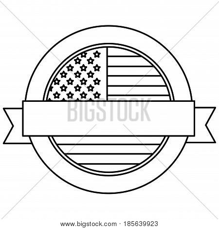 united states of america emblematic seal vector illustration design