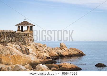 The gazebo at Front Beach in Rockport Massachusetts.