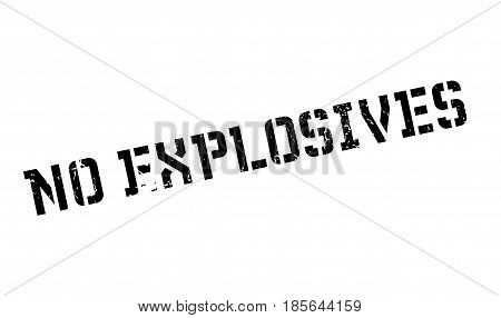 No Explosives rubber stamp. Grunge design with dust scratches. Effects can be easily removed for a clean, crisp look. Color is easily changed.
