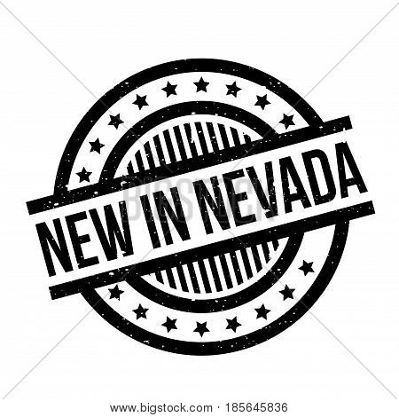 New In Nevada rubber stamp. Grunge design with dust scratches. Effects can be easily removed for a clean, crisp look. Color is easily changed.