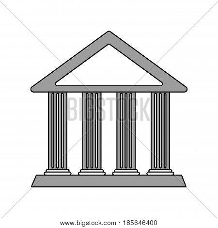 color silhouette cartoon skecth parthenon architecture icon vector illustration