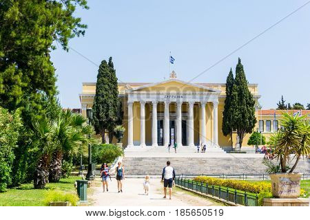 ATHENS, GREECE - May 3, 2017: National Archaeological Museum in Athens.