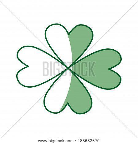 st patricks day celebration four-leaf clover image vector illustration