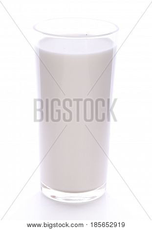 Glass of milk isolated on white liquid, calcium, nutrient, pasteurized, breakfast, path