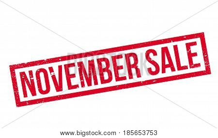 November Sale rubber stamp. Grunge design with dust scratches. Effects can be easily removed for a clean, crisp look. Color is easily changed.
