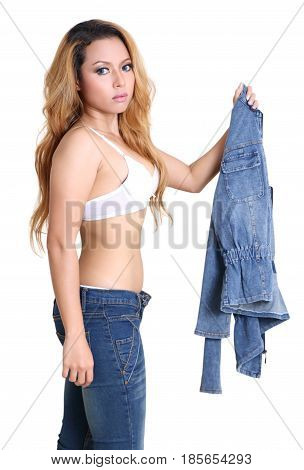 Woman And Jeans