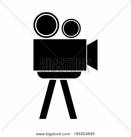 Cinematograph The Black Color Icon.