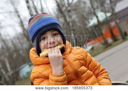 Child Eating Khachapuri