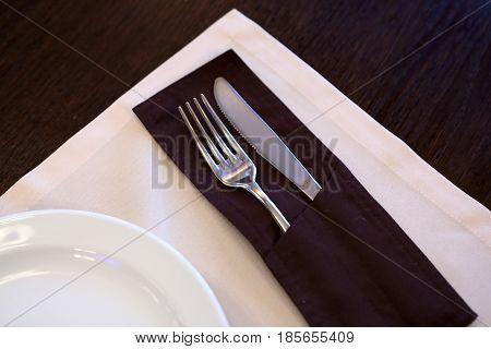 Cutlery On Table