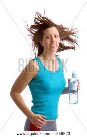 Young Running Woman