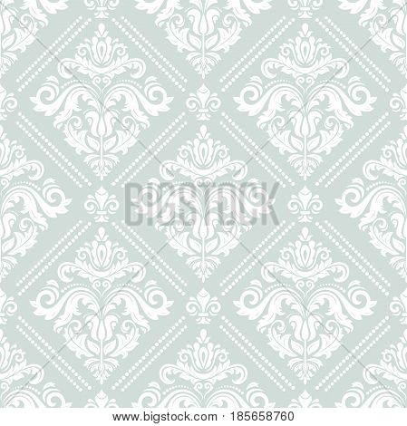 Seamless classic light pattern. Traditional orient ornament
