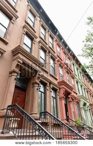 Harlem Brownstones - New York City