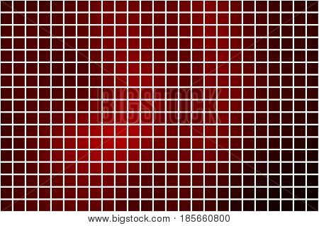 Deep burgundy red abstract vector square tiles over white mosaic background