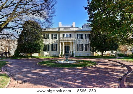 The Virginia Governor's Mansion in Richmond Virginia.
