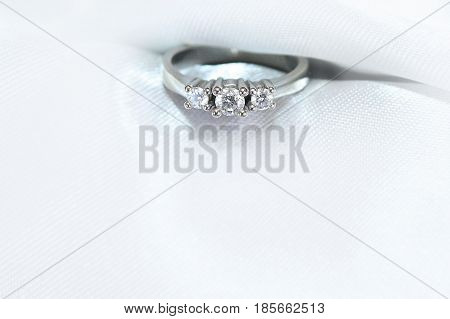 ring white gold with diamonds on a white background