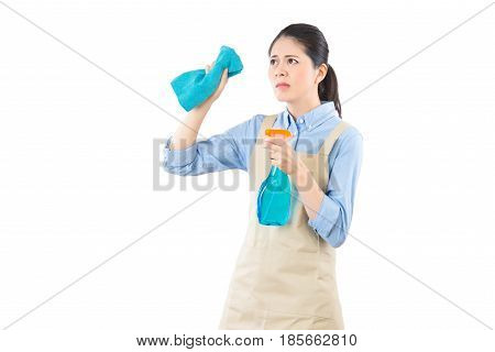 Cleaning Dirty Glass Doing Housework