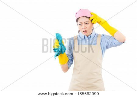 Housewife Disappointed Of Her Cleaning Result