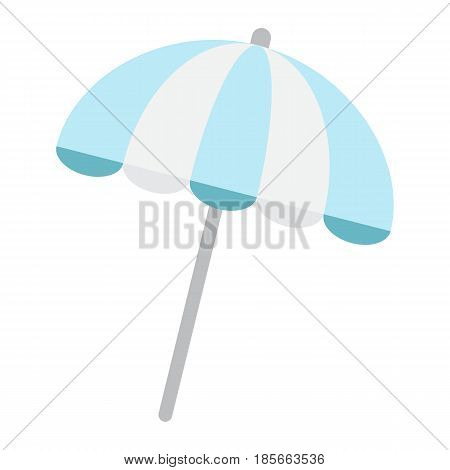 Sun umbrella flat icon, travel and tourism, parasol, a colorful solid pattern on a white background, eps 10.