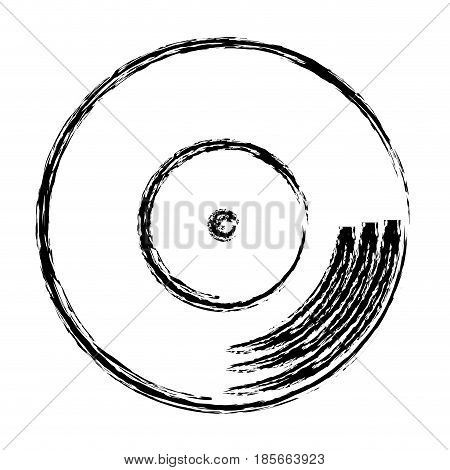 longplay icon over white background. vector illustration