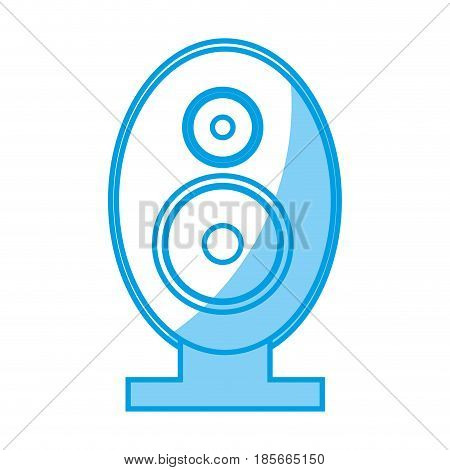 Speaker amplifier icon over white background. vector illustration